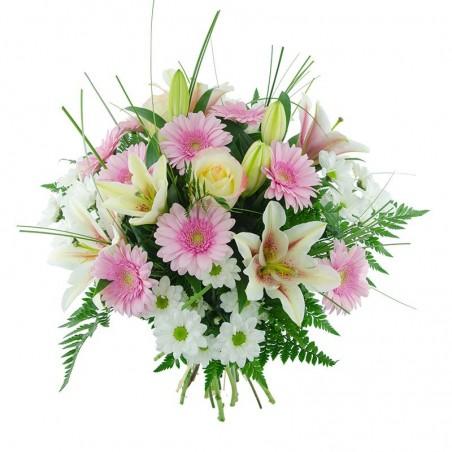 Ramo de flores tonos rosas