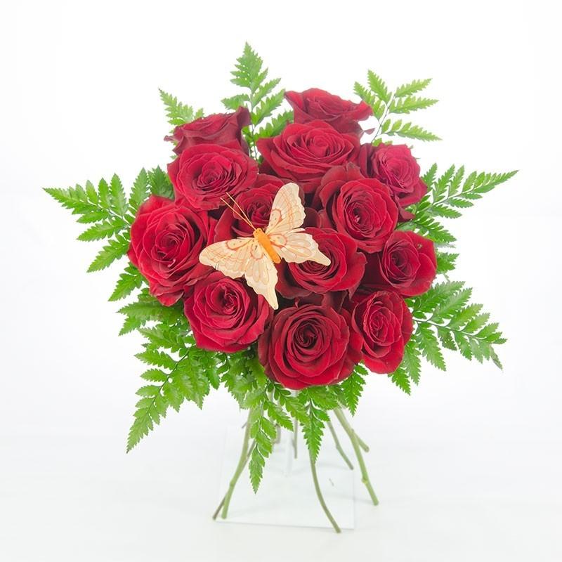 Bouquet de 12 Rosas Rojas