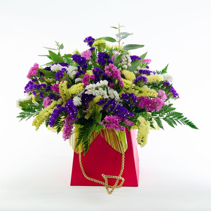 centro de flores siemprevivas frente