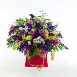 centro de flores siemprevivas