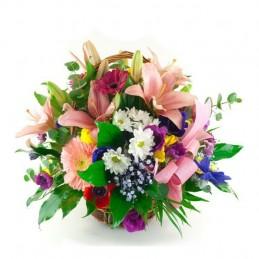 Centro flores variadas
