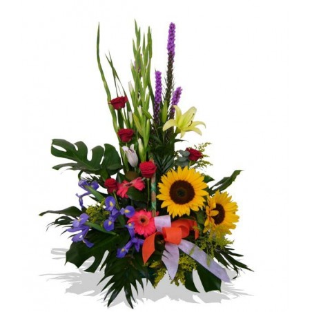 Centro de flores alegre