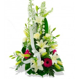 Centro flores blancas