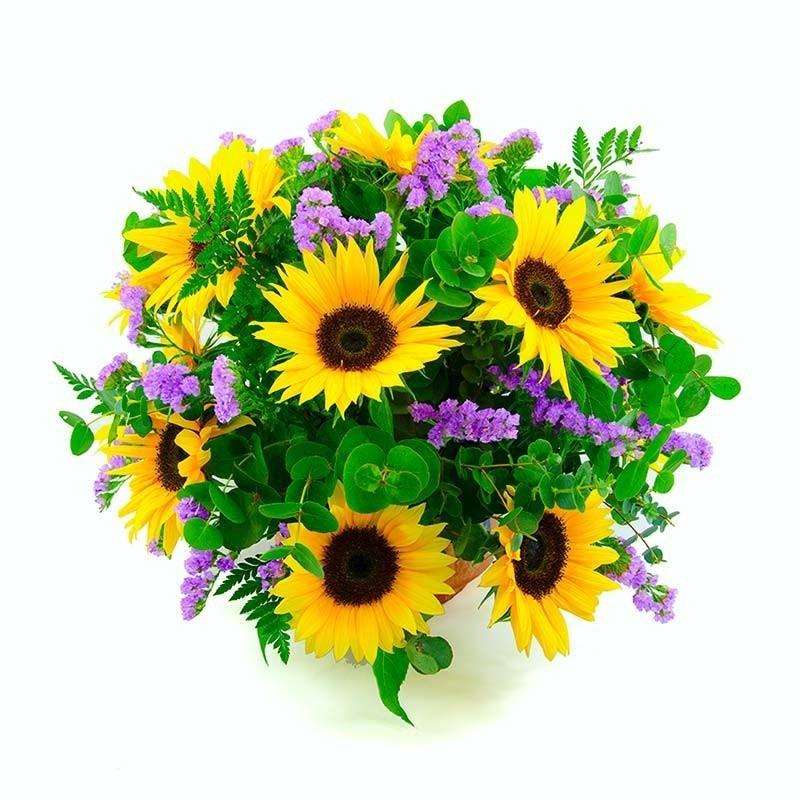 Centro de flores girasoles