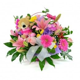 Centro de Flores y Peluche